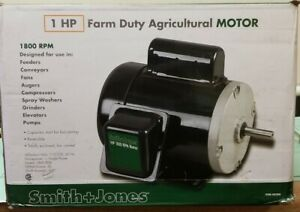 Smith And Jones 1hp Farm Duty Agricultural Motor As Found At Harbor Freight