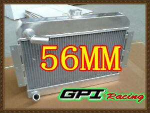 56mm Aluminum Radiatorfor For Mg Mgb Gt roadster Top fill 1968 1975 74 73 Manual