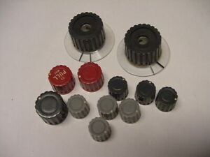 Tektronix Type 321a Oscilloscope 12 Pieces Control Knob Lot