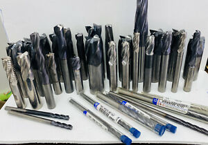 Large Lot Of New Gently Used Solid Carbide End Mills Machinist