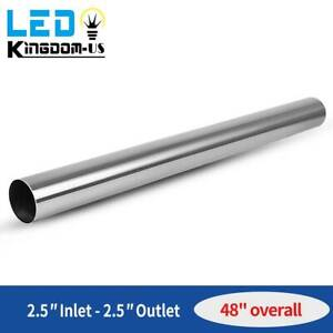 Od 2 5 64mm Inlet Stainless Steel Straight Exhaust Pipe Tube Piping Tubing 4ft