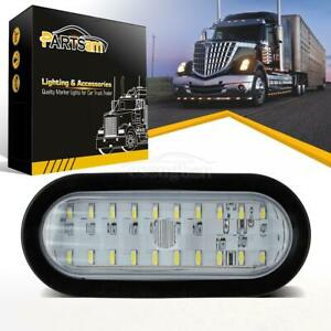 Universal 30 Led 6 Oval White Sealed Stop Turn Tail Backup Light W rubber Mount