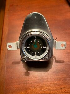 Vintage Automobile Dash Clock By Geo W Borg Corp Free Shipping
