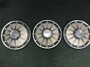 1960 63 Corvair 13 Hubcaps Used Set Of 3