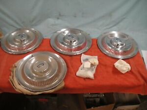 1953 55 Corvette Hubcaps And Spinners Nos