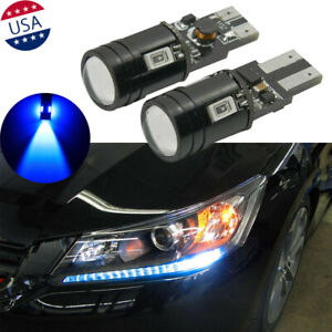 2x Royal Blue T10 Led Light For 2013 2015 Honda Accord Headlight Strip Bulbs