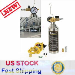 Flush Fuel Injector Cleaner Kit Canister Adapter Pressure Gauge Tools Kit 1000ml