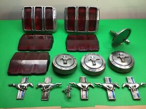 Parts Lot Ford Mustang 1965 1966 Genuine Ford Tail Light Lens Gas Caps
