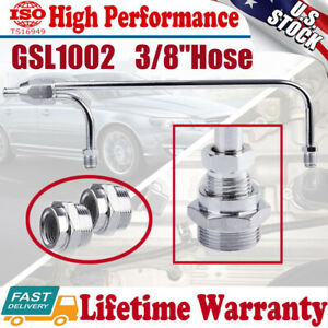 1552 Chrome Fuel Line For Holley 4150 Double Pumper For 3 8 Hose Dual Inlet Tube