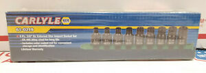 Carlyle Tools By Napa 61 0219 3 8in Dr 9pc External Star Impact Socket Bit Set