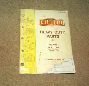 Vintage Euclid Heavy Duty Parts Trucks Tractors Trailers 303 B Sales Catalog
