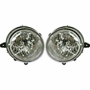 Headlight Headlamp Set 07 10 Compass 07 16 Patriot Left Right Side Pair W bulb