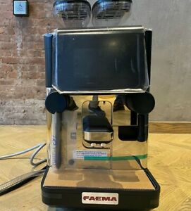Faema X20 S10 Superautomatic Coffee Machine Touch Screen Drink Selections