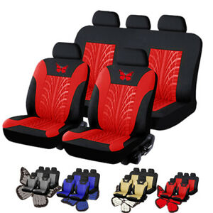 Universal Front Rear Car Seat Covers Full Set 5 Seat Cushion 3d Butterfly O3n2
