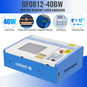 Omtech 40w 12 x 8 Co2 Laser Engraver Marker Machine Crafts Cutter Usb Interface