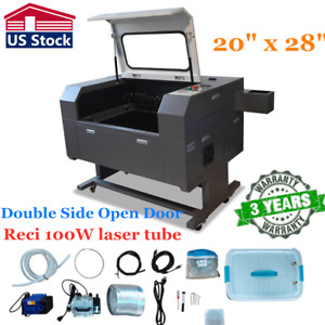 20 X 28 100w Co2 Laser Cutter Double Side Open Door Usb Port Electric Lifting