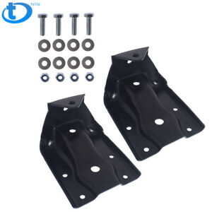 Pair Rear Leaf Spring Hanger Shackle Bracket Kit For Chevy Silverado Gmc Sierra Fits More Than One Vehicle
