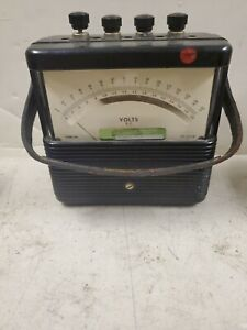 Vintage Weston Electrical Instrument Corp Dc Voltmeter Model 901