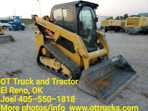 2016 Cat 249d Cab A c Rubber Track Skid Steer Loader Joystick Used