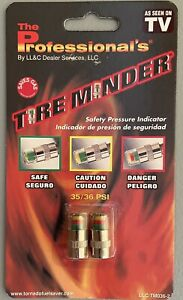 2 pack Tire Minder Car Safety Pressure Indicator 35 36 Psi As Seen On Tv New