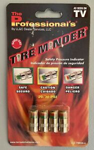 4 pack Tire Minder Car Safety Pressure Indicator 29 30 Psi As Seen On Tv New Nip