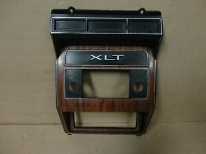 80 86 Xlt Ford Truck Bronco Woodgrain Center Dash Radio Trim Bezel Cover