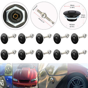 2 4 10x Bumper Latch Push Button Quick Release Hood Bonnet Pins Lock Clip Kit