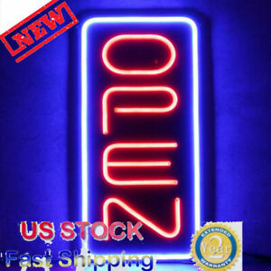 Bright 23 6 x11 8 Vertical Neon Open Sign 30w Led Light Bar Home Business Pvc