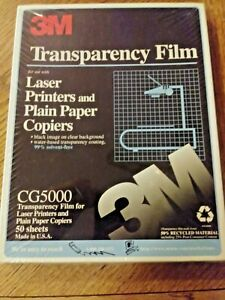 3m Cg5000 Transparency Film Sheets For Laser Printers And Plain Paper Copiers