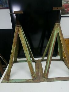 Vintage 16 Steel Jack Stand Set Of 2