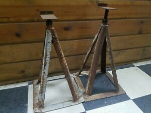 Vintage 18 Steel Jack Stand Set Of 2