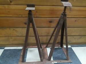 Vintage 20 Steel Jack Stand Set Of 2
