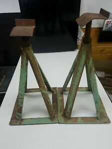 Vintage 14 Steel Jack Stand Set Of 2