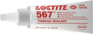 567 Thread Sealant Tube White Ideal For Locking Preassembled Fasteners 50 Ml