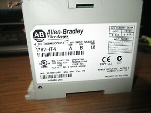 Allen Bradley 1762 it4 a Micrologix Expansion Thermocouple mv Input Qty