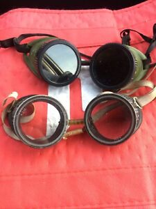 Vintage Glasses Cutting Torch Safety Goggles Steampunk Motorcycle Aviator Wwii