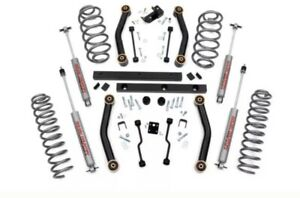 Rough Country Lift Kit 4 Inch Jeep Wrangler Tj 03 06 With Shocks
