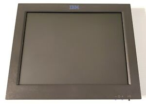 Ibm 12 Pos Touch Screen Monitor Grey Type 4820 P n 07k6110 New