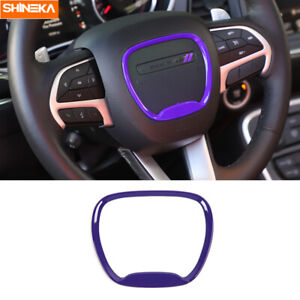 Steering Wheel Trim Sticker Cover For Dodge Challenger Charger 2015 2020 Purple