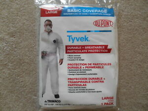 Dupont Tyvek Coverall Protective Suit Size L And Xl 14122