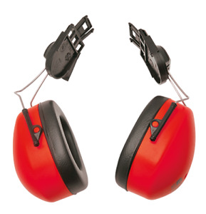 Portwest Pw42 En352 Clip On Ear Protector Muffs 44 Red