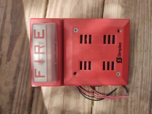 Simplex Fire Alarm Red Horn 2901 9840 Strobe Wall Mount Combo