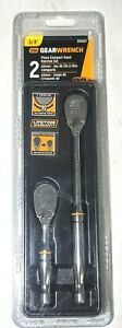 Gearwrench 2pc 3 8 Compact Head 90t Teardrop Ratchet Set 4 5 8 Long 81253t