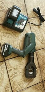 Greenlee Gator Esg45l11 Battery Hydraulic Acsr Cable Cutter Ground Rod Cutting