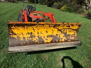 Snow Plow 6ft Tractor Front End Loader Power Angle Urethane Cutting Edge Kubota