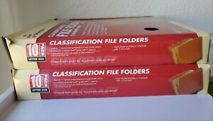 Skilcraft Classification File Folders 2 Divider 6 Part 10 Pack Per Box lot Of 2