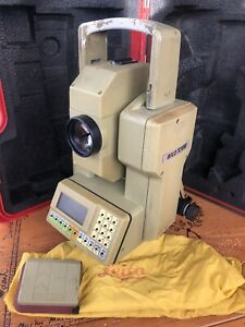 Leica Wild Tc1010 Total Station Surveying Transit W Case For Parts Restoration