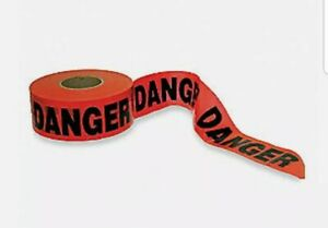 Safety Barricade Danger Tape Caution Tape 3 X 1000 Barrier Red 1n960a