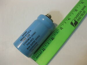 Capacitor Mallory 10776300a 11000uf 15vdc