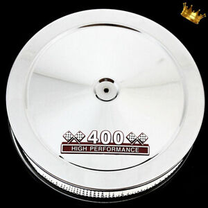 Chrome Small Block Chevy Air Cleaner With Red 400 Emblem Fits 400 Sbc Engines